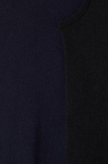 LOEWE Asymmetric Knit Dress Negro/Marino front