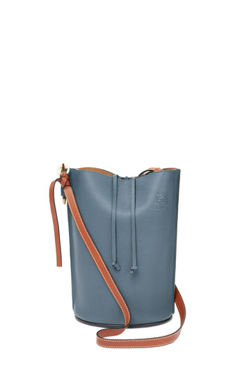 LOEWE Gate Bucket Steel Blue/Tan front