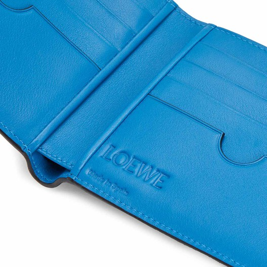LOEWE Maze Bifold Wallet Midnight Blue/Fluo Blue front