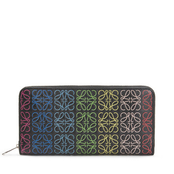 LOEWE Repeat Zip Around Wallet 黑色/多色 front
