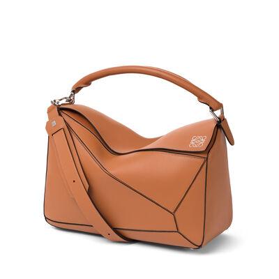 LOEWE Puzzle Bag Tan front