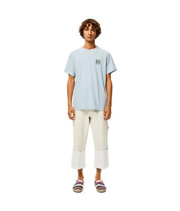 LOEWE Anagram T-Shirt ベイビーブルー front