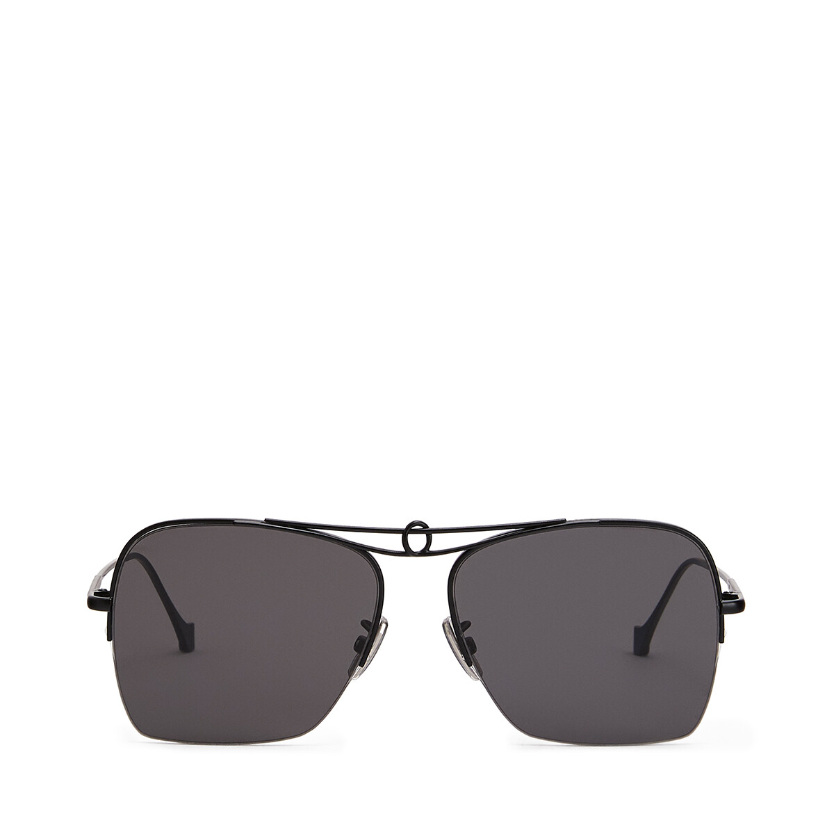 LOEWE Knot Pilot Square Sunglasses Black Matte/Smoke front