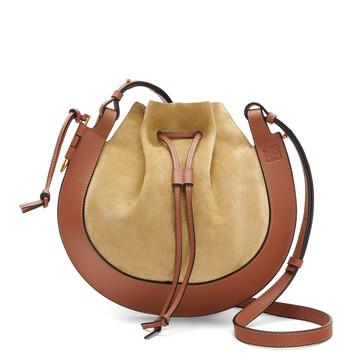 LOEWE Horseshoe Bag 金色/棕褐色 front