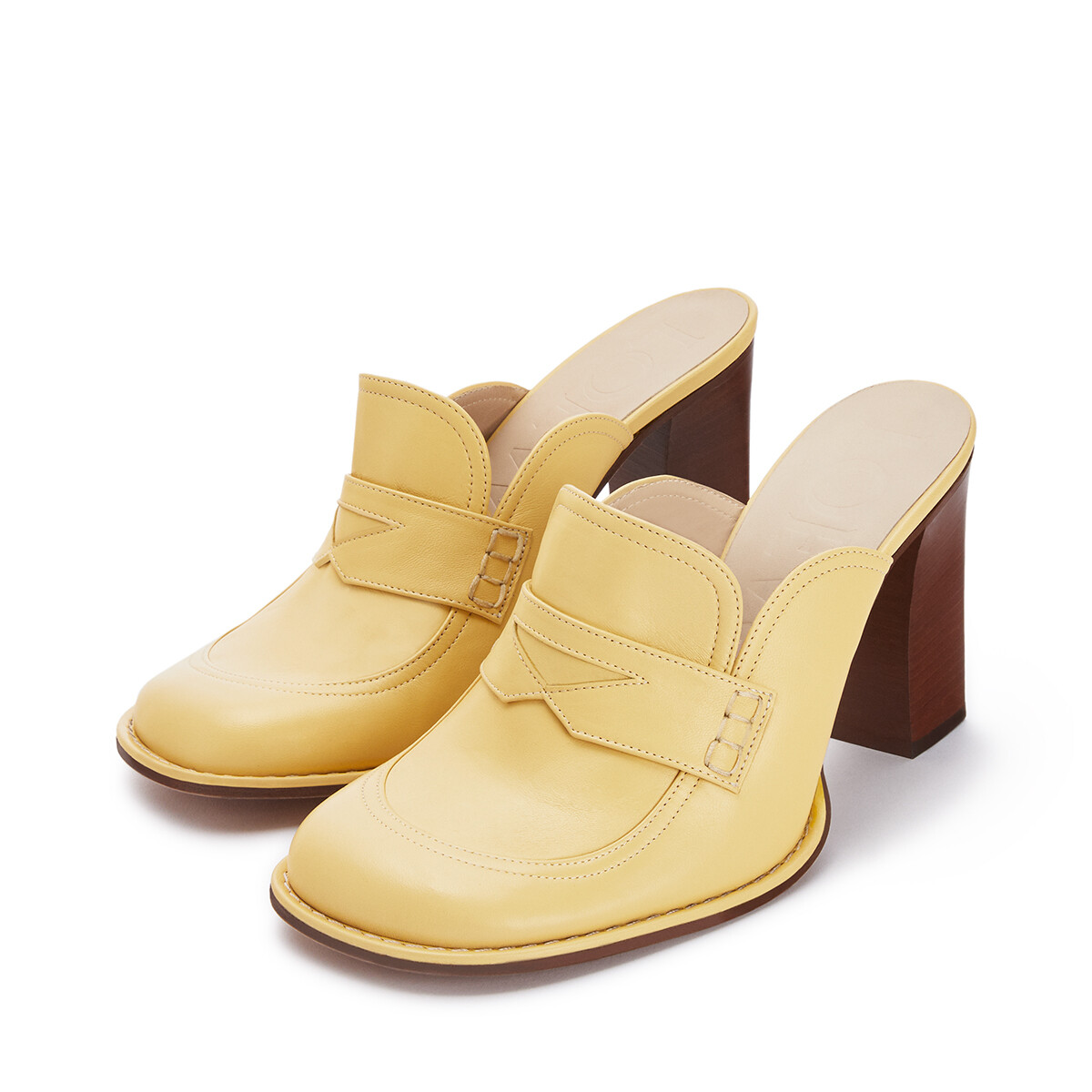 LOEWE Loafer 90 Light Yellow front