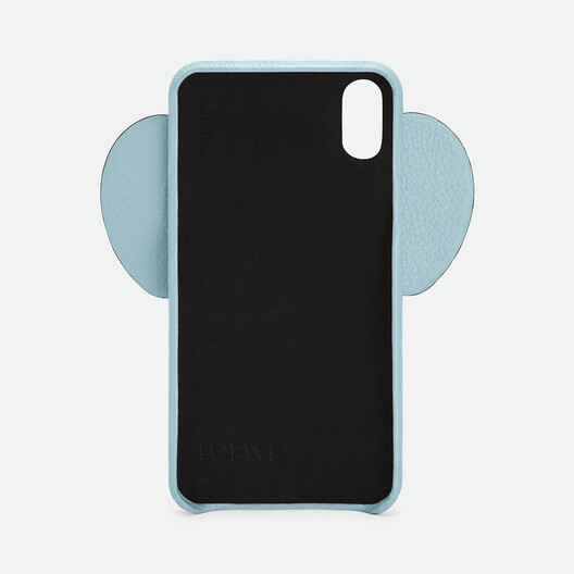 LOEWE iPhone XS Max用 エレファント カバー ライトブルー front