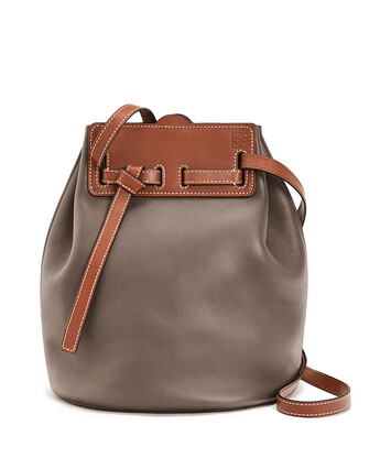 LOEWE ラゾバケット Dark Taupe/Tan front
