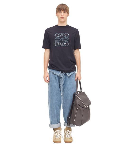 LOEWE Anagram Denim T.Shirt Marino all