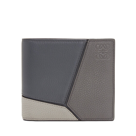 084fb4a841c744 LOEWE Puzzle Bifold Wallet Grey Multitone front