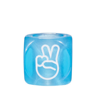 LOEWE Hands Signs Small Dice 蓝色 front