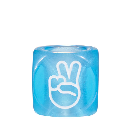 LOEWE Hands Signs Small Dice Blue front