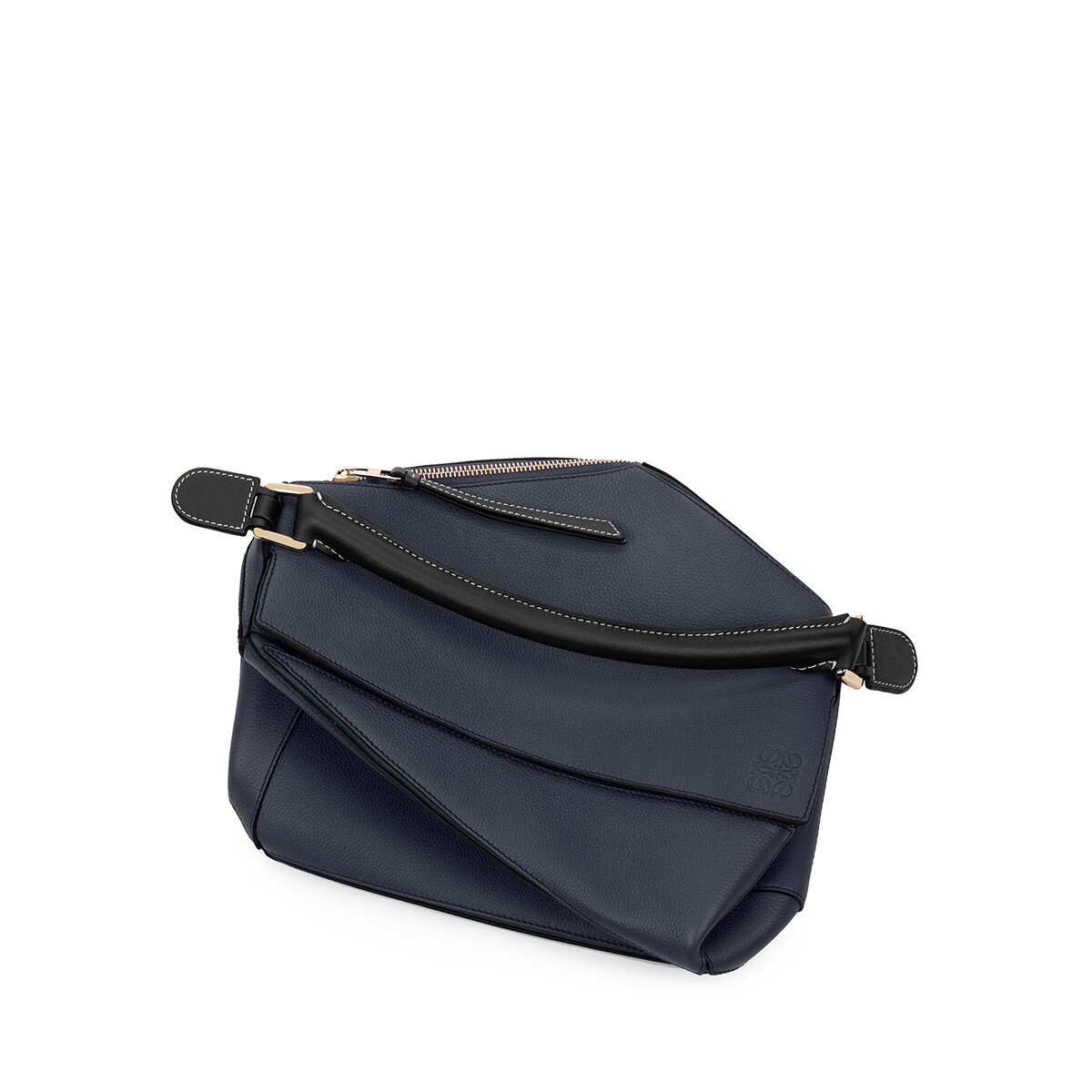 LOEWE Puzzle Bag Midnight Blue/Black front