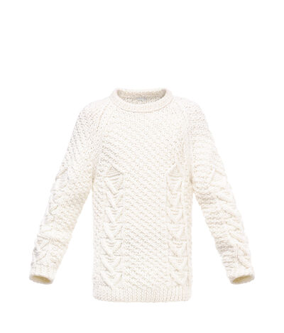 LOEWE Cable Sweater Off-White front