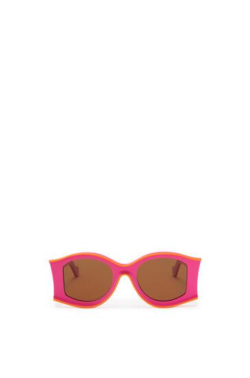 LOEWE Large Sunglasses in acetate Neon Pink/Neon Orange pdp_rd
