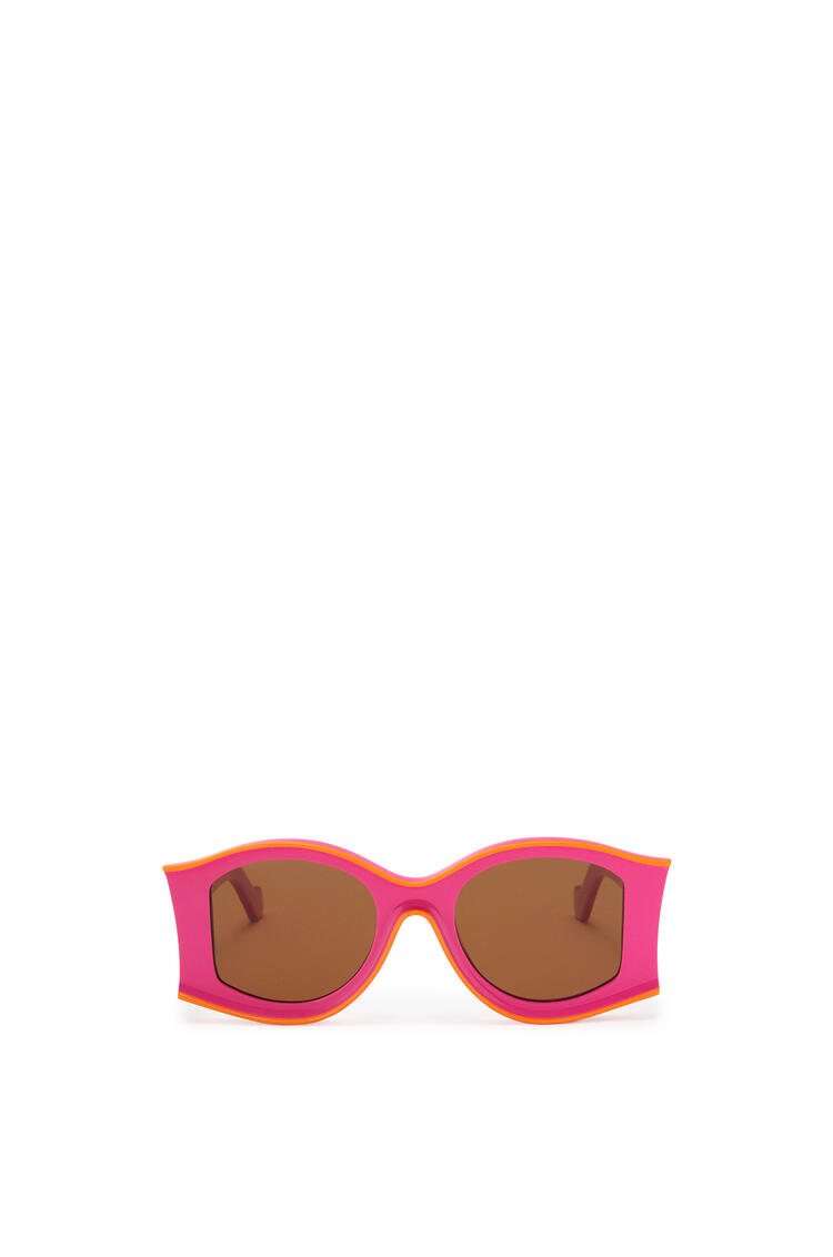 LOEWE Large Sunglasses in acetate Neon Pink/Neon Orange pdp_rd