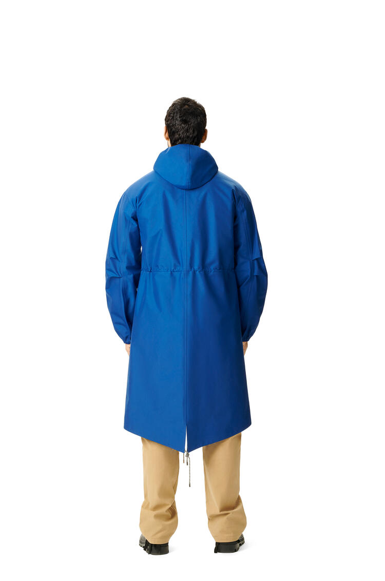 LOEWE Long parka in nylon Blue pdp_rd