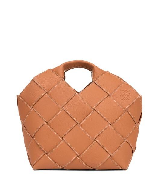 LOEWE Woven Basket Tan front