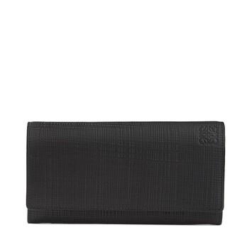 LOEWE Billetero Continental Linen Negro front