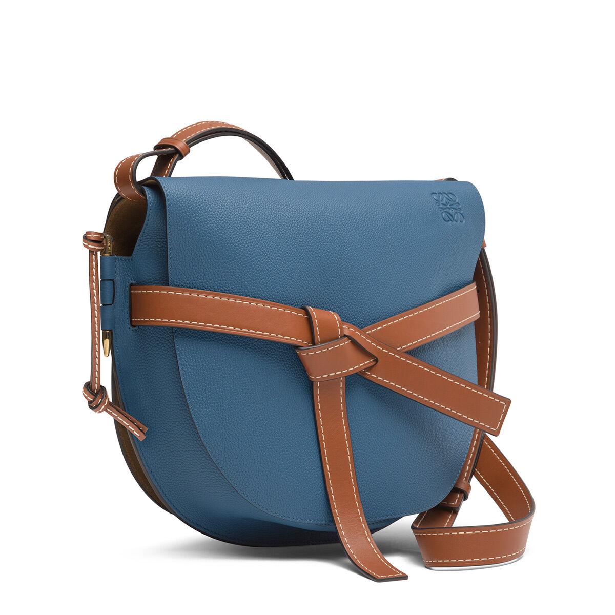 LOEWE ゲートバッグ Varsity Blue/Pecan Color all
