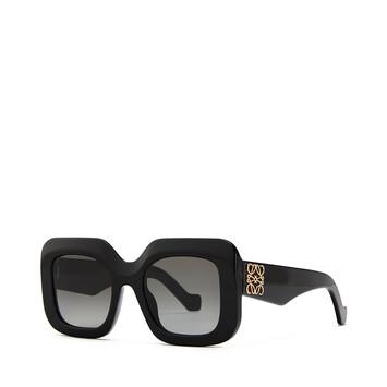 LOEWE Acetate Rectangular Sunglasses Black front