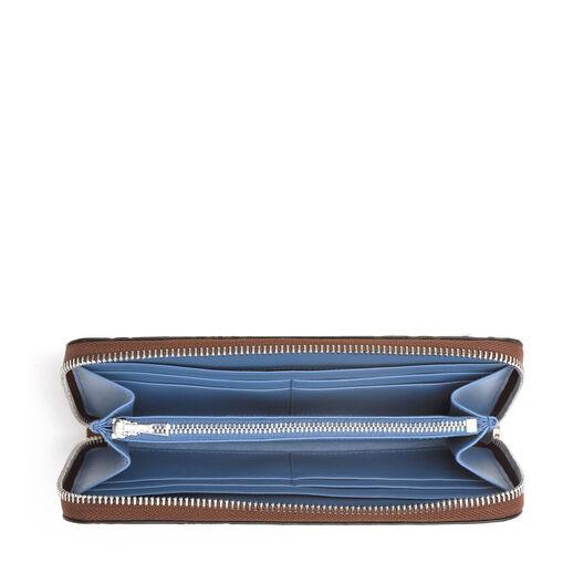LOEWE Signature Zip Around Wallet Cognac/Duke Blue all
