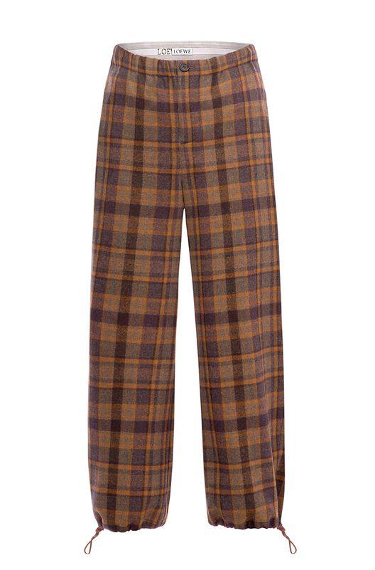 LOEWE Tartan Trousers Marron/Multicolor all