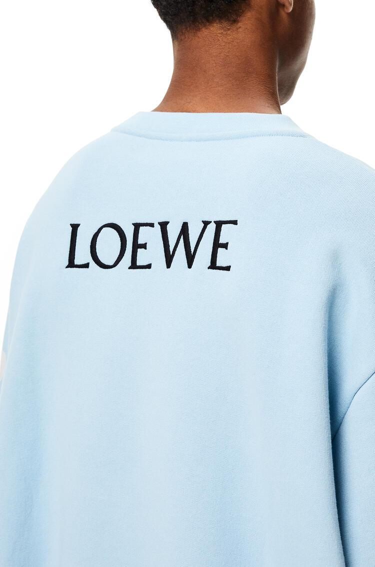 LOEWE Goose sweatshirt in cotton Baby Blue pdp_rd