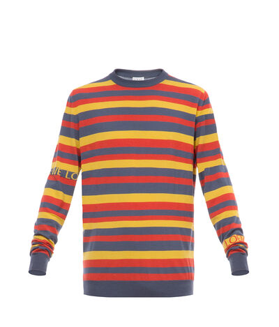 LOEWE Stripe Sweater Orange/Multicolor front