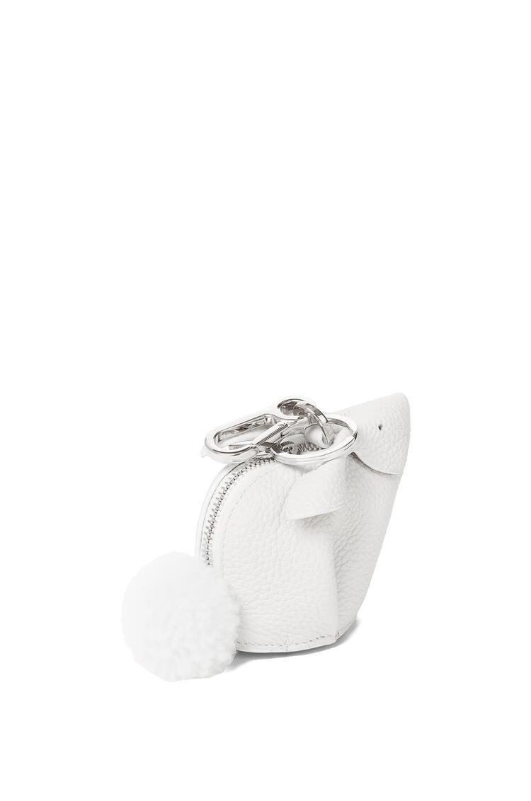 LOEWE Bunny charm in soft grained calfskin White pdp_rd
