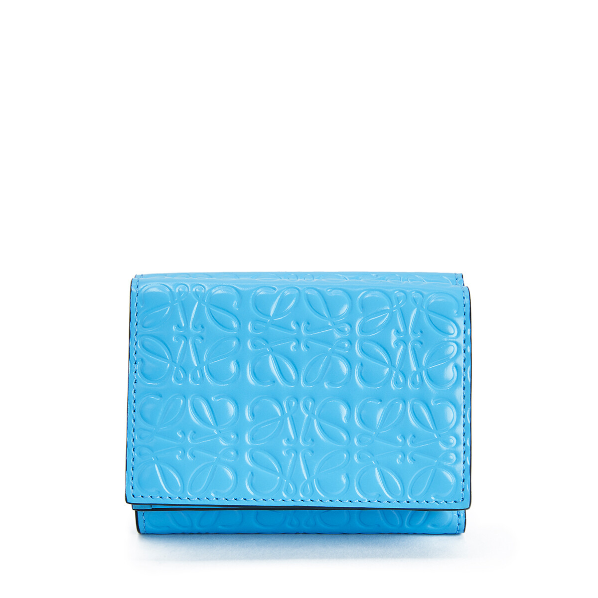 LOEWE Trifold Wallet Sky Blue front