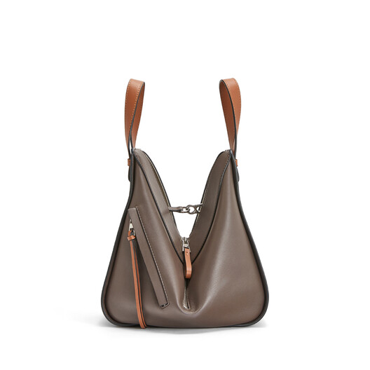 LOEWE Hammock Small Bag Oxblood/Taupe front