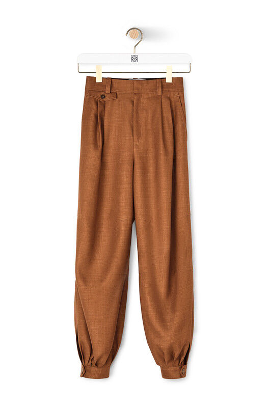 LOEWE Balloon Trousers Tobacco front