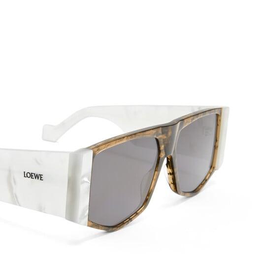 LOEWE Gafas Acetato Mask Blanco/Humo front