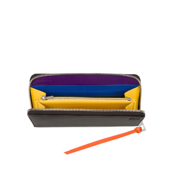 LOEWE Rainbow Zip Around Wallet Multicolor/Black front