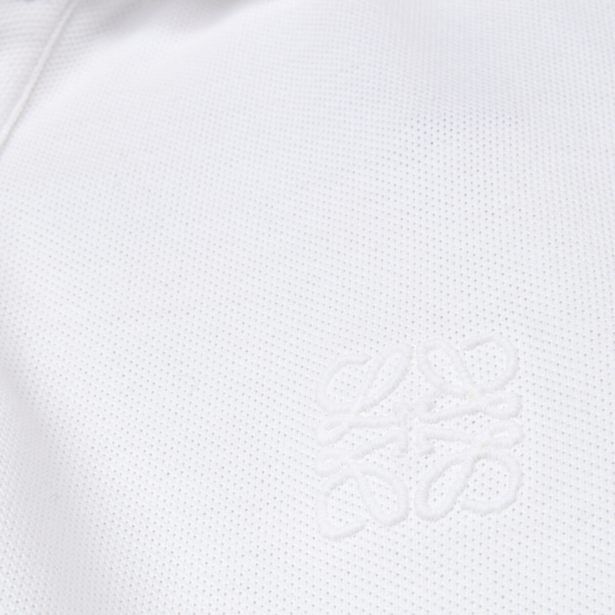 LOEWE Anagram Polo White Ash front
