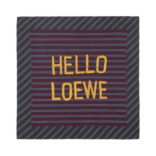 LOEWE 90X90 Scarf Hello Loewe Azul Marino/Naranja all