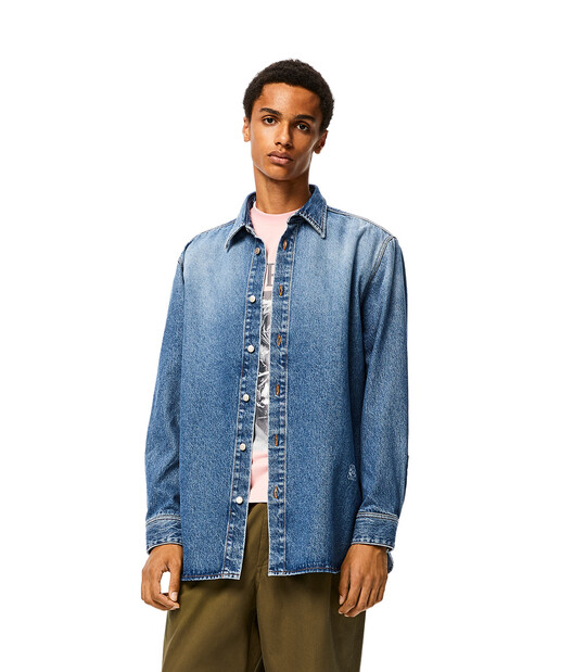 LOEWE Denim Shirt Blue front