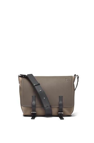 LOEWE Military Messenger Small Bag Dark Grey/Dark Taupe pdp_rd