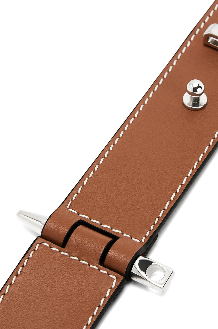 LOEWE Gate Bracelet In Calfskin Tan pdp_rd