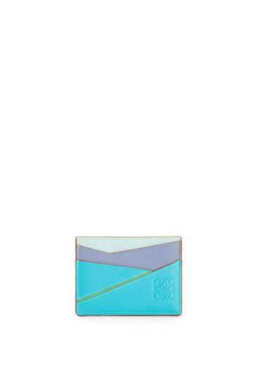 LOEWE Tarjetero plano en piel de ternera clasica Azul Laguna/Arandano pdp_rd
