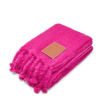 LOEWE 130X200 Blanket Loewe Patch Pink front