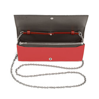 LOEWE Wallet On Chain Scarlet Red/Brick Red front