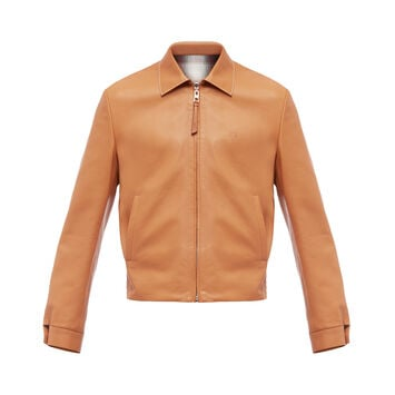 LOEWE Reversible Zip Blouson Light Toffee front