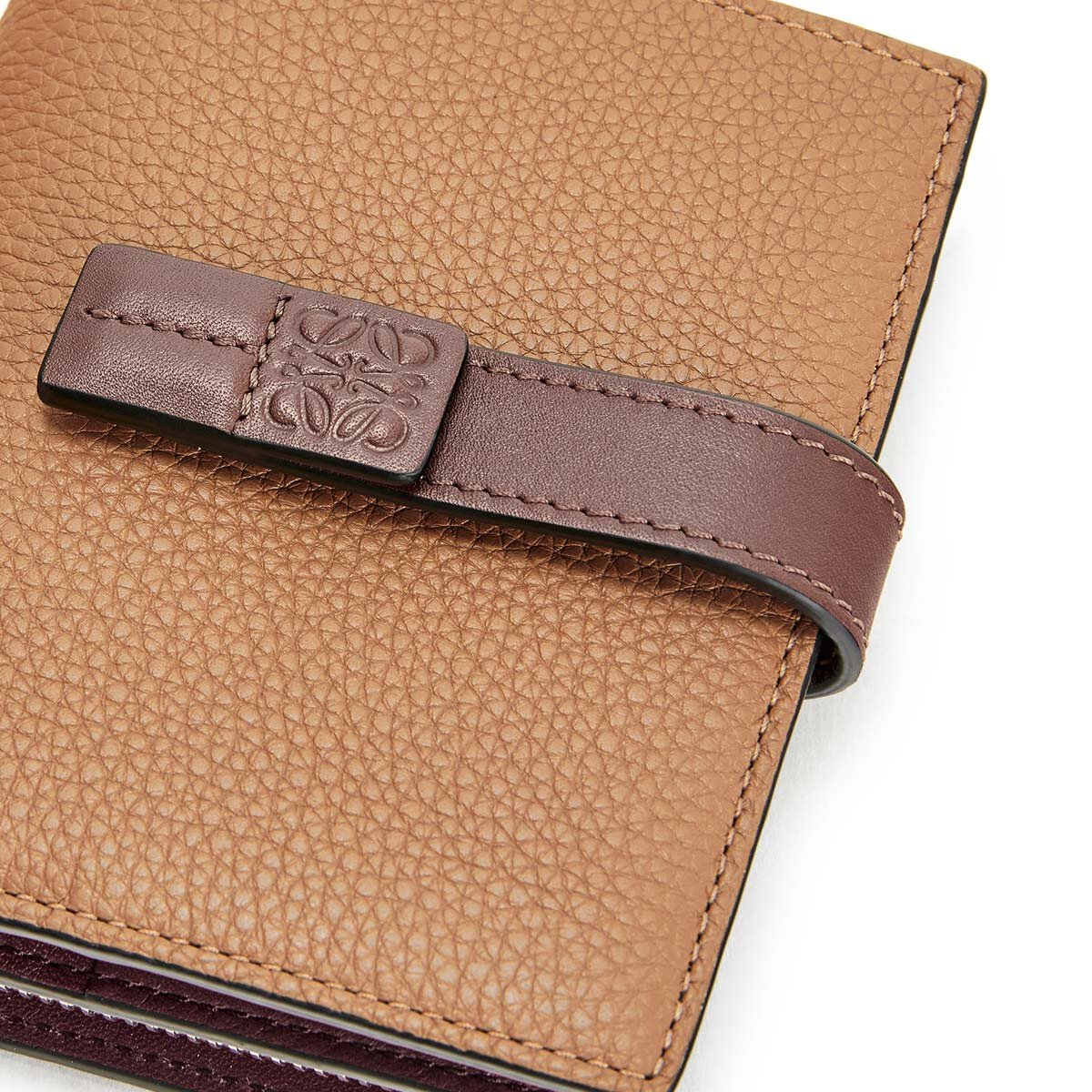 LOEWE Compact Zip Wallet Light Caramel/Pecan Color  front