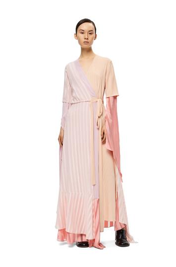 LOEWE Wrap Dress Rosa Claro/Polvo front