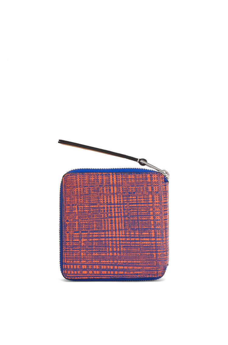 LOEWE Cartera Square zip en piel de ternera Azul Electric/Naranja pdp_rd