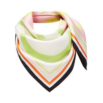 LOEWE 90X90 スカーフフレームアナグラム Pink/Yellow front