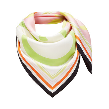LOEWE 90X90 Scarf Frame Anagram Rosa/Amarillo front