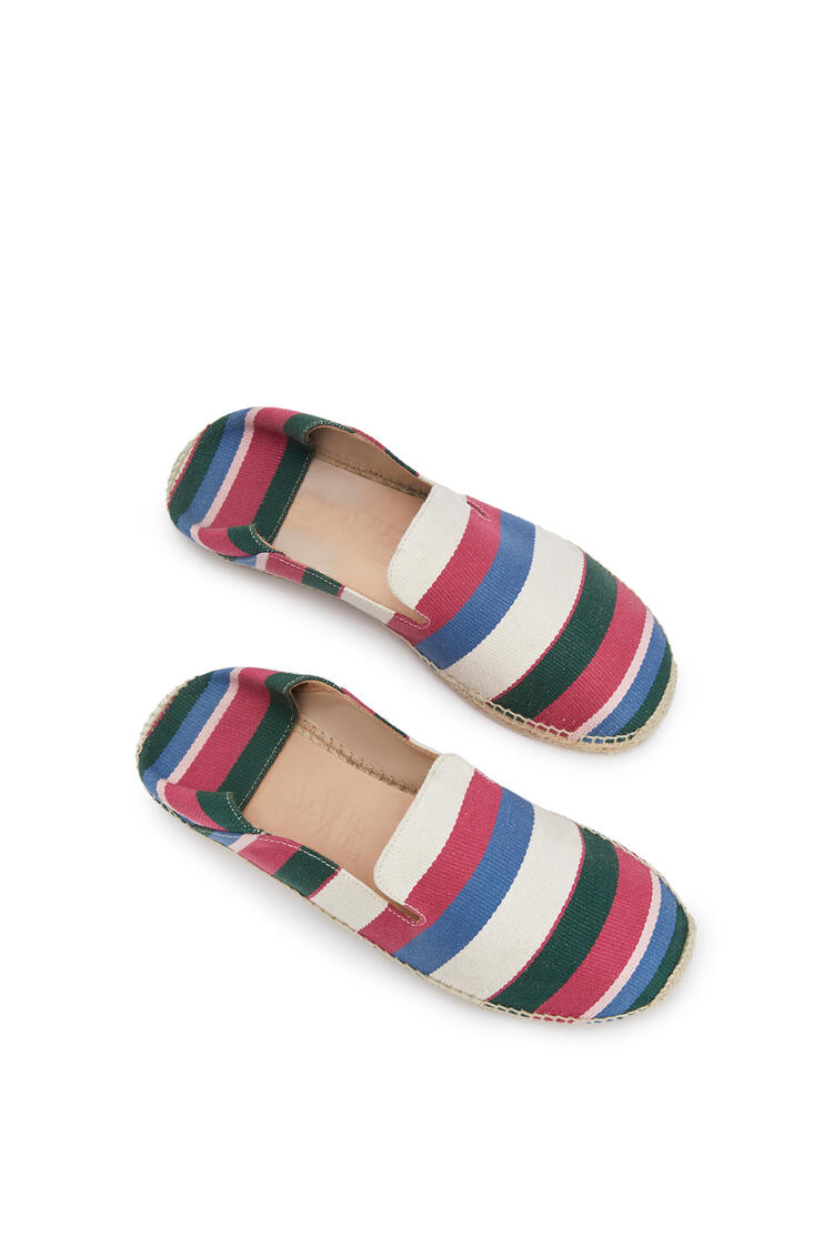 LOEWE Slipper espadrille in canvas Pink/Green/Light Blue pdp_rd