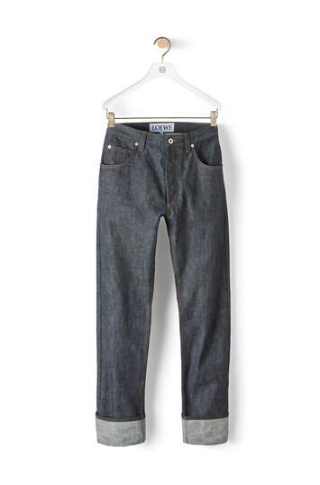 LOEWE 5 Pockets Jeans Blue Denim front